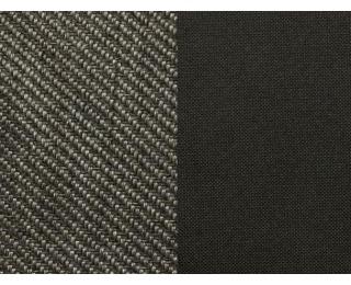Taburetka Enzo - šenil šedý (Corona 79) / čierna (Neo 21)