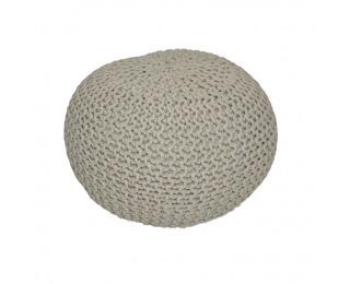Pletená taburetka Gobi Typ 1 - hnedosivá