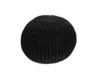 Pletená taburetka Gobi Typ 2 - čierna