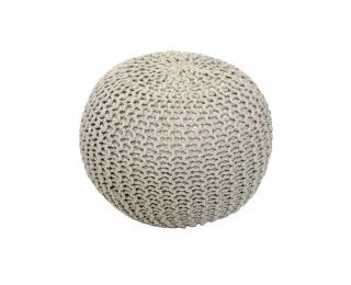 Pletená taburetka Gobi Typ 2 - krémová