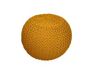Pletená taburetka Gobi Typ 2 - horčicová