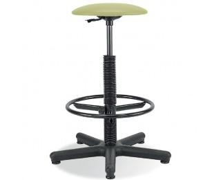 Dielenská stolička s čalúneným sedákom Goliat/Ring Base - pistácia