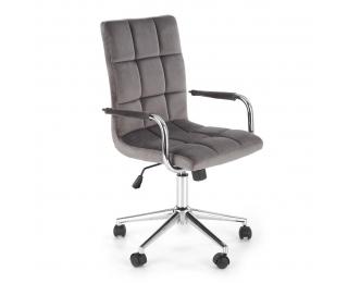 Kancelárska stolička Gonzo 4 - sivá (Velvet) / chróm
