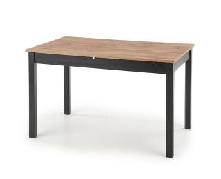 Rozkladací jedálenský stôl Greg - dub wotan / čierna