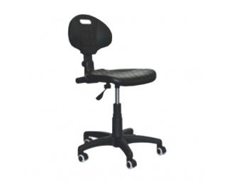 Výškovo nastaviteľná dielenská stolička na kolieskach GTS - čierna