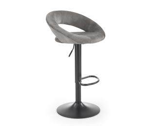 Barová stolička H-102 - sivá / čierna