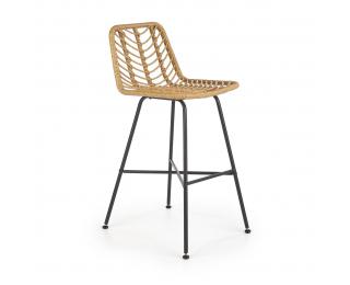 Barová stolička H-97 - prírodná / čierna