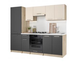Kuchyňa Hafling 240 - dub sonoma / antracit / vanilka