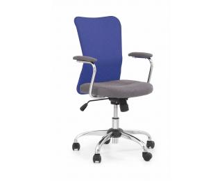 Detská stolička na kolieskach s podrúčkami Andy - modrá / sivá