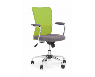 Detská stolička na kolieskach s podrúčkami Andy - zelená / sivá