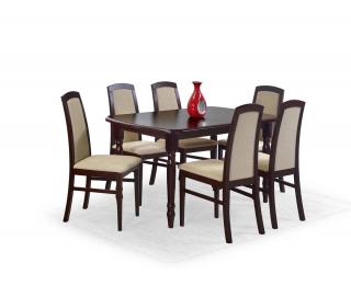 Rozkladací jedálenský stôl Arnold - tmavý orech