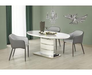 Rozkladací jedálenský stôl Aspen - biely lesk