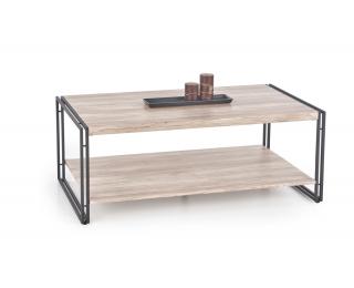 Konferenčný stolík Bavaria - dub san remo / čierna
