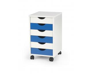 Kontajner na kolieskach Beppo 2 - biela / biely lesk / modrý lesk