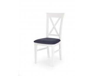 Jedálenská stolička Bergamo - biela / tmavomodrá