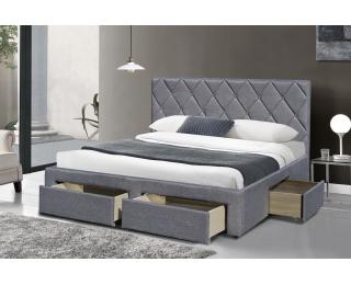 Čalúnená manželská posteľ s roštom Betina 160 - sivá
