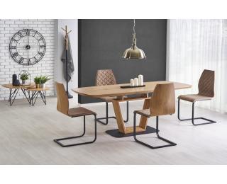 Rozkladací jedálenský stôl Blacky - dub zlatý / čierna