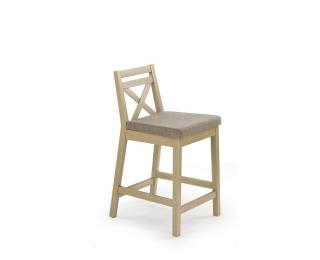Barová stolička Borys Low - dub sonoma / hnedá