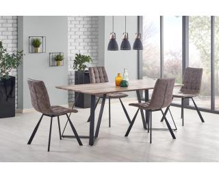Jedálenský stôl Calgary - vlašský orech / čierna