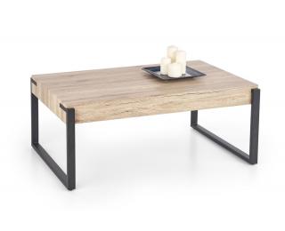 Konferenčný stolík Capri - dub san remo / čierna