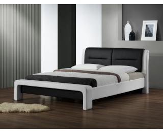 Čalúnená jednolôžková posteľ s roštom Cassandra 120 - biela / čierna