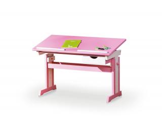 Detský písací stôl Cecilia - ružová / biela