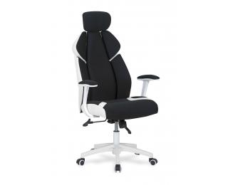 Kancelárske kreslo s podrúčkami Chrono - čierna / biela