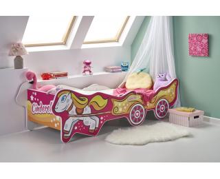 Detská posteľ s roštom a matracom Cinderella - kombinácia farieb