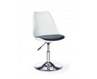 Detská stolička na kolieskach Coco 3 - biela / čierna