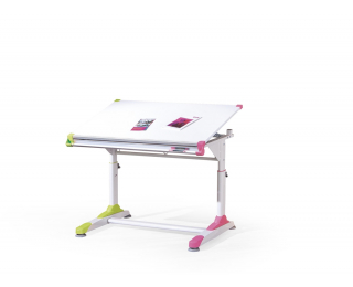 Detský písací stôl Collorido - biely lesk / biela