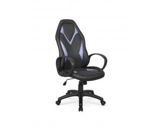 Kancelárske kreslo s podrúčkami Coyot - čierna / modrá