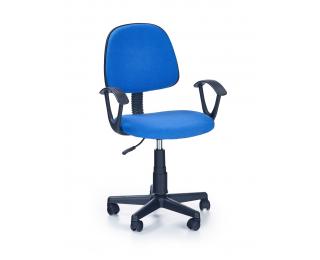 Detská stolička na kolieskach s podrúčkami Darian BIS - modrá