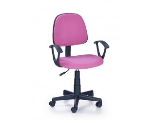 Detská stolička na kolieskach s podrúčkami Darian BIS - ružová