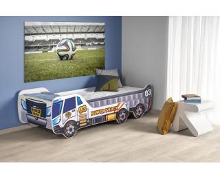 Detská posteľ s roštom a matracom Digger - kombinácia farieb
