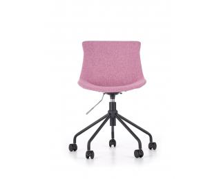 Detská stolička na kolieskach Doblo - ružová