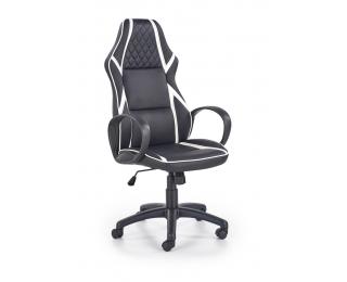 Kancelárske kreslo s podrúčkami Dodger - čierna / biela