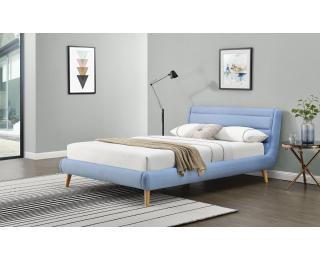 Čalúnená manželská posteľ s roštom Elanda 140 - svetlomodrá