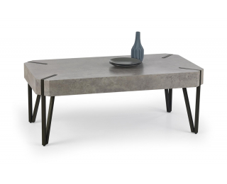 Konferenčný stolík Emily - betón / čierna