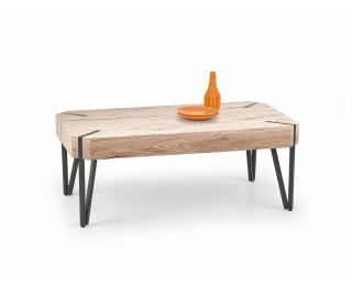 Konferenčný stolík Emily - dub san remo / čierna