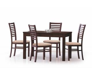 Rozkladací jedálenský stôl Ernest 120/160 - tmavý orech