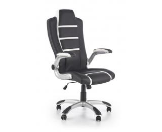 Kancelárske kreslo s podrúčkami Fast - čierna / biela