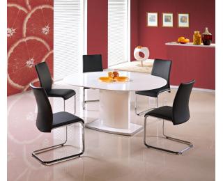 Rozkladací jedálenský stôl Federico - biely lesk