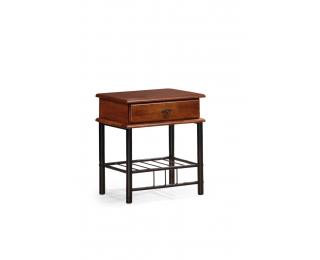 Nočný stolík Fiona - čerešňa antická / čierna