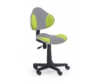 Detská stolička na kolieskach Flash 2 - sivá / zelená