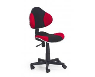 Detská stolička na kolieskach Flash - čierna / červená