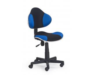 Detská stolička na kolieskach Flash - čierna / modrá