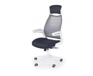 Kancelárska stolička s podrúčkami Franklin - biela / čierna / sivá