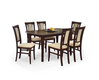 Rozkladací jedálenský stôl Fryderyk 160/200 - tmavý orech