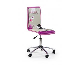 Detská stolička na kolieskach Fun 1 - fialová / vzor