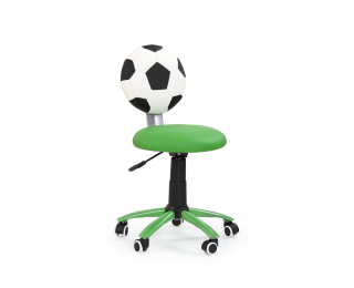 Detská stolička na kolieskach Gol - zelená / biela / čierna